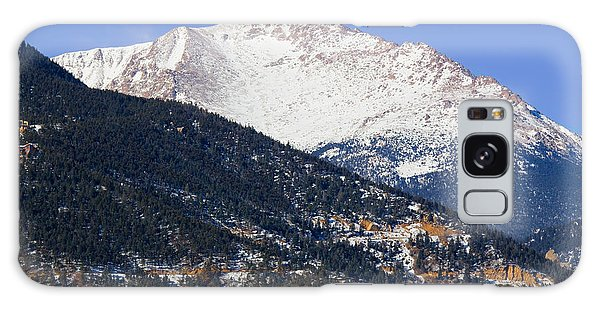 Snow Capped Pikes Peak In Winter Galaxy Case