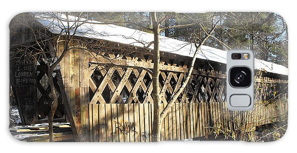 Snow Covered Bridge Galaxy Case