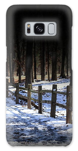 Snow Covered Bridge Galaxy Case by Kim Henderson
