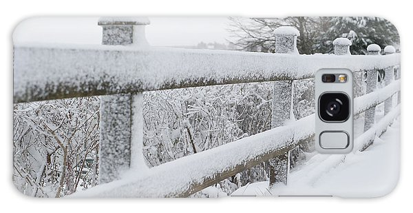 Snow Covered Fence Galaxy Case by Helen Northcott