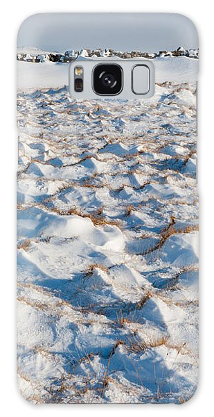 Snow Covered Grass Galaxy Case