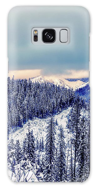 Snow Covered Mountains Galaxy Case
