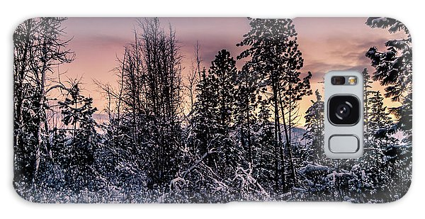 Snow Covered Pine Trees Galaxy Case