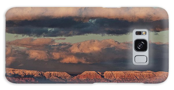 Snow Covered Red Rock Panorama Galaxy Case