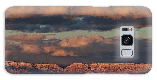 Galaxy Case featuring the photograph Snow Covered Red Rock Panorama by Ron Chilston