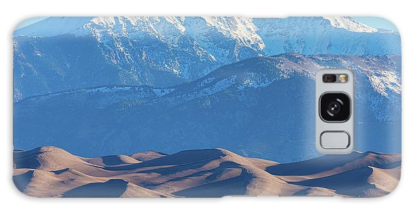 Snow Covered Rocky Mountain Peaks With Sand Dunes Galaxy Case by James BO Insogna