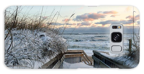 Snow Day At The Beach Galaxy Case