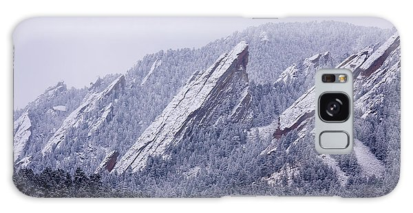 Snow Dusted Flatirons Boulder Colorado Galaxy Case
