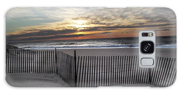Snow Fence At Coopers Beach Galaxy Case