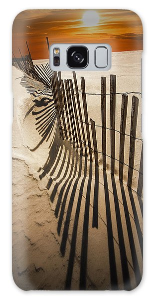 Snow Fence At Sunset Galaxy Case