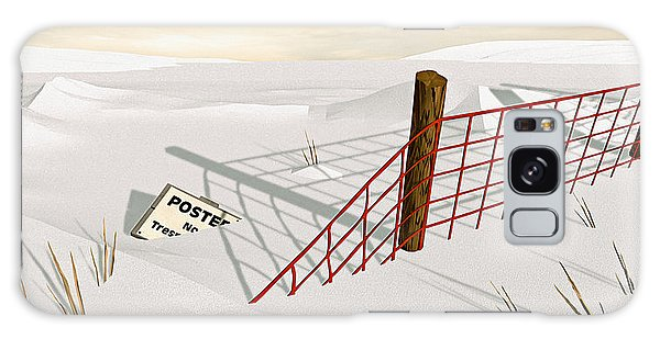 Snow Fence Galaxy Case by Peter J Sucy