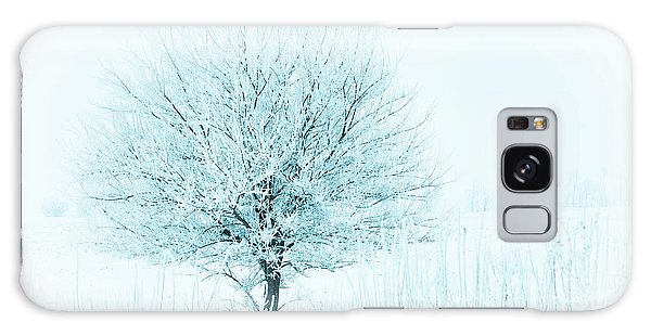 Snow Field Tree Galaxy Case