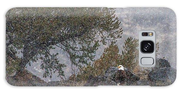 Galaxy Case featuring the photograph Snow Flurry Bald Eagle by Britt Runyon