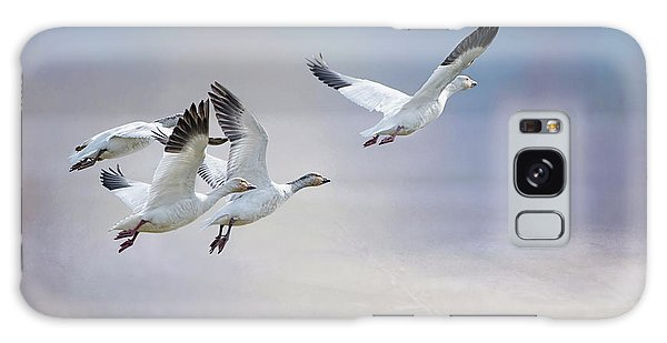 Snow Geese In Flight Galaxy Case by Bonnie Barry