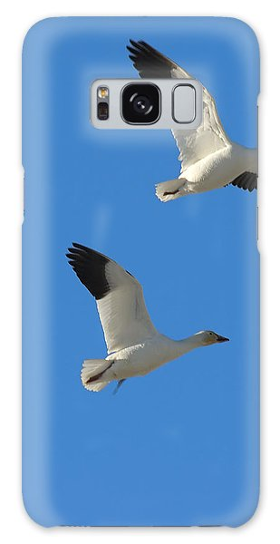 Snow Geese Moon Galaxy Case