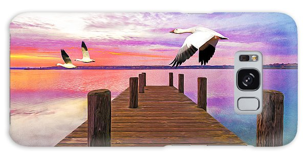 Goose Galaxy Case - Snow Geese Passing Through by Laura D Young