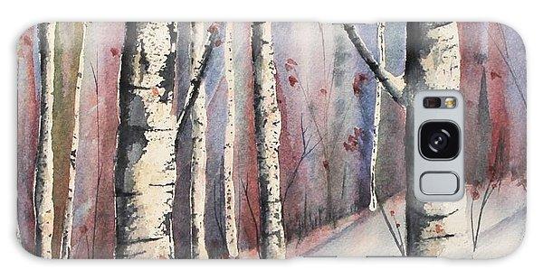 Snow In Birches Galaxy Case