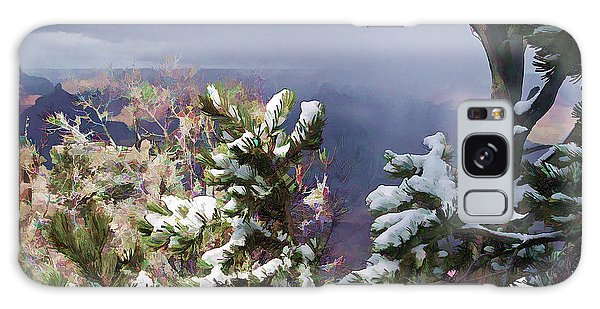 Snow In The Canyon Galaxy Case