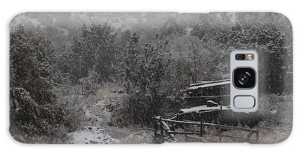 Snow In The Old Santa Fe Corral Galaxy Case