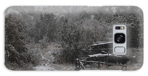 Snow In The Old Santa Fe Corral Galaxy Case