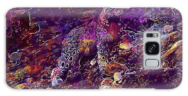 Galaxy Case featuring the digital art Snow Leopard Cat Animals  by PixBreak Art