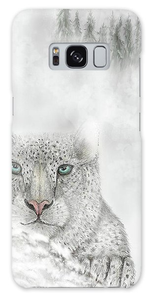 Galaxy Case featuring the digital art Snow Leopard by Darren Cannell