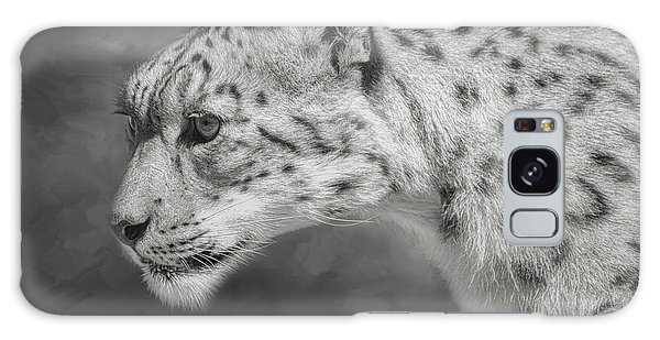Galaxy Case featuring the digital art Snow Leopard by Nicole Wilde