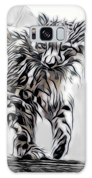 Galaxy Case featuring the digital art Snow Leopard by Pennie McCracken