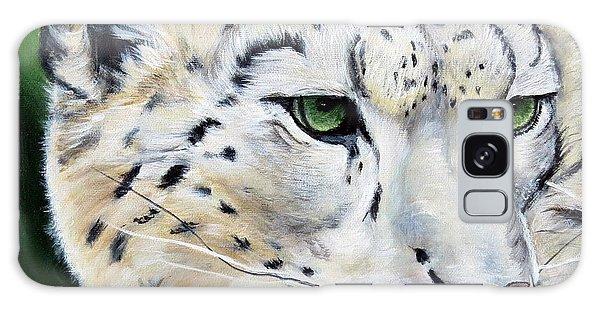Snow Leopard Portrait Galaxy Case