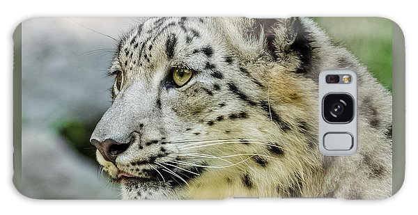 Snow Leopard Portrait Galaxy Case by Yeates Photography