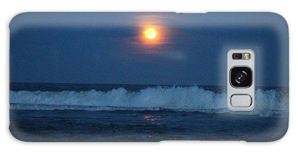 Snow Moon Ocean Waves Galaxy Case
