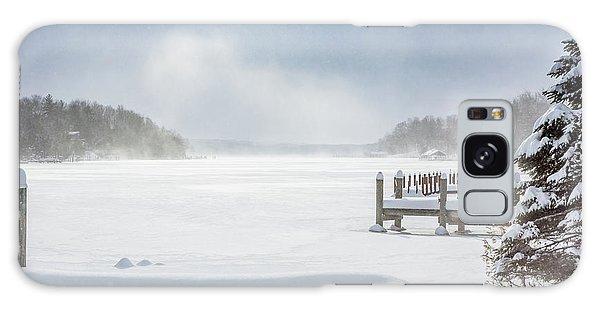 Snow On Lake Charlevoix Galaxy Case