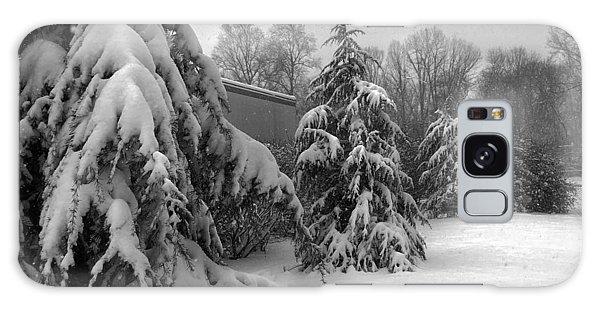 Snow On Pines Galaxy Case
