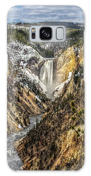 Snow On The Falls Galaxy Case by Yeates Photography