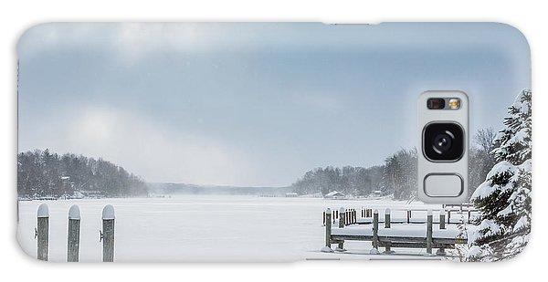Snow On The Lake Galaxy Case