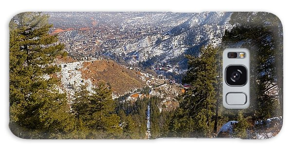 Snow On The Manitou Incline In Wintertime Galaxy Case
