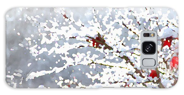 Galaxy Case featuring the digital art Snow On The Maple by Shelli Fitzpatrick