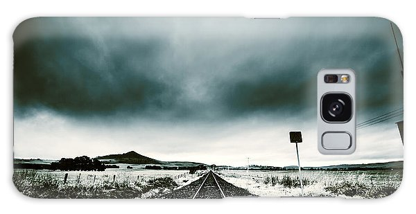 Galaxy Case featuring the photograph Snow Railway by Jorgo Photography - Wall Art Gallery