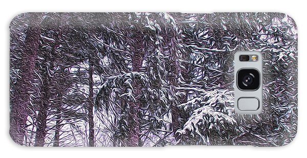 Snow Storm On Pines Galaxy Case