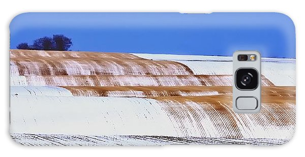 Snow Stubble Tree Line 13955 Galaxy Case