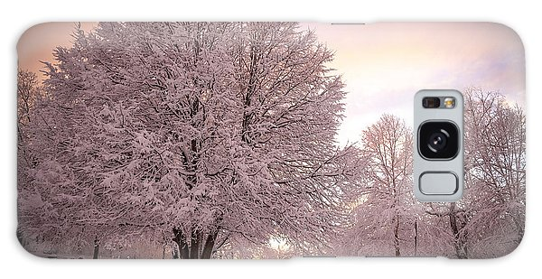 Snow Tree At Dusk Galaxy Case