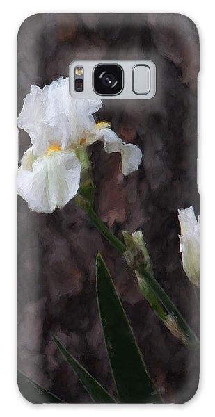 Snow White Iris On Pine Galaxy Case