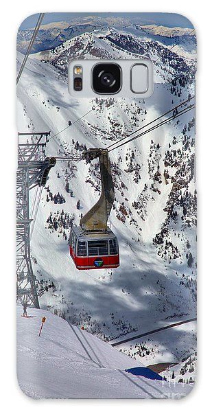 Snowbird Tram Portrait Galaxy Case