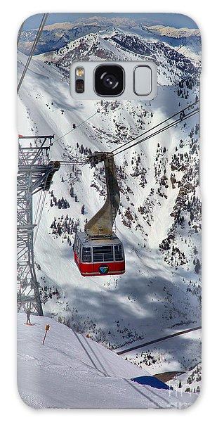 Snowbird Tram Portrait Galaxy Case