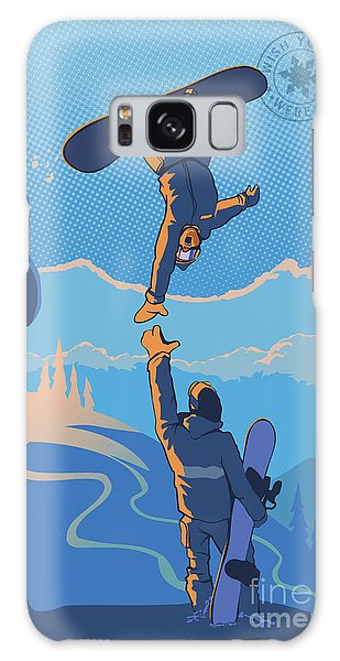Mountain Sunset Galaxy S8 Case - Snowboard High Five by Sassan Filsoof