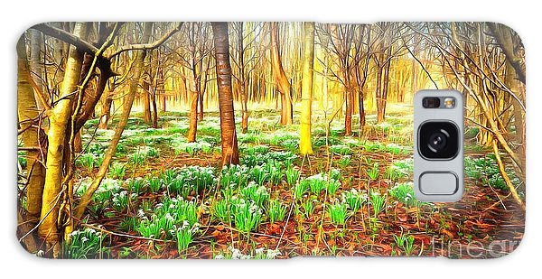 Snowdrops In The Woods Galaxy Case