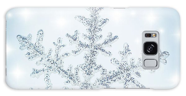 Snowflake Background Galaxy Case