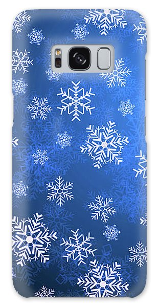 Snowflake Blue   9 Galaxy Case
