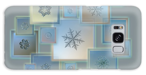 Snowflake Collage - Bright Crystals 2012-2014 Galaxy Case