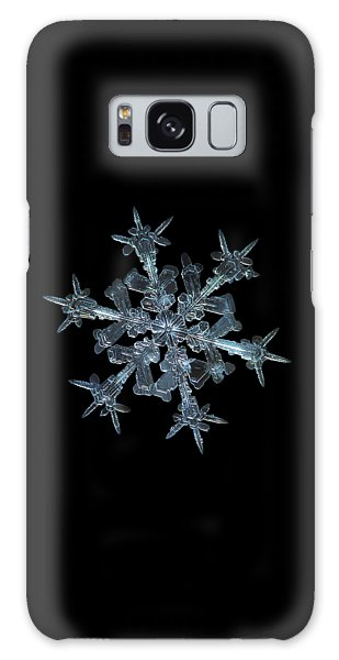 Galaxy Case featuring the photograph Snowflake Photo - Starlight by Alexey Kljatov